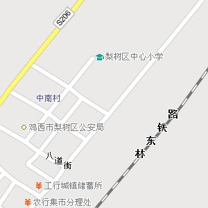 鸡西市梨树区平岗街道地图