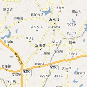 临沂南坊道路地图