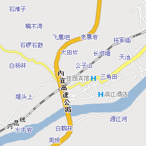 宜宾城区街道地图