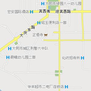 山西大同到北京地图