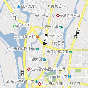 汕头城区街道地图