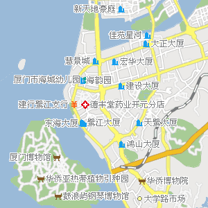 济仁堂药店海沧店附近地图
