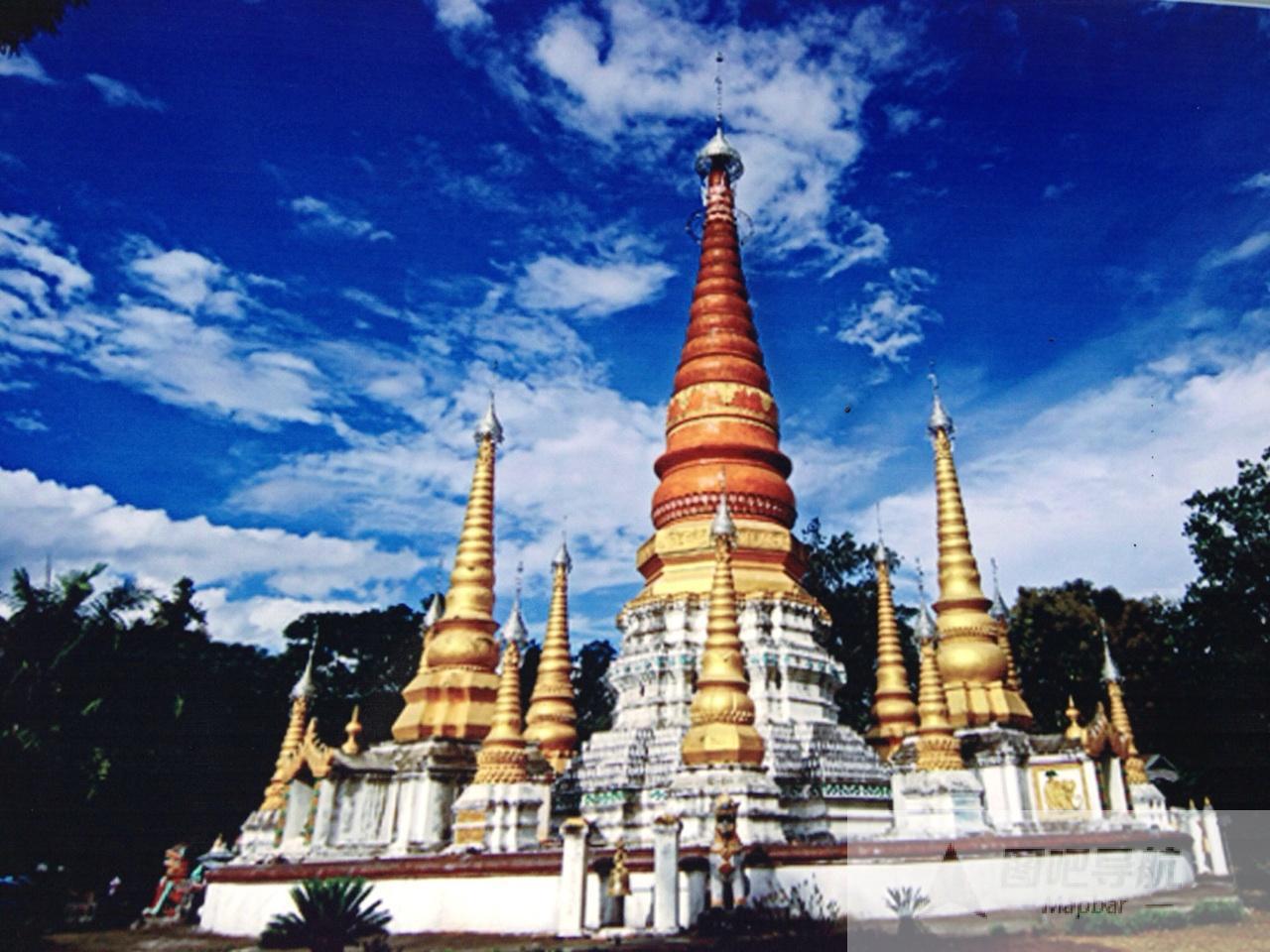 德宏傣族景颇族自治州旅游景点地图