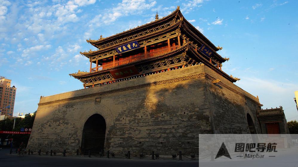 张掖市旅游景点地图
