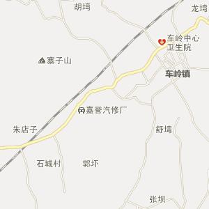 名山县车岭镇电子地图