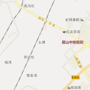 四川眉山电子地图_眉山在线旅游交通图