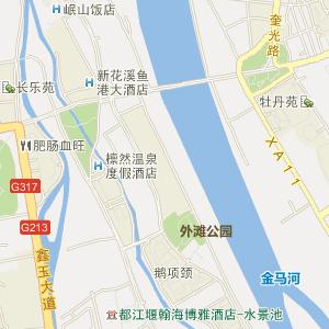 成都市都江堰市电子地图