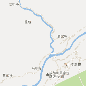 都江堰虹口电子地图_虹口道路地图