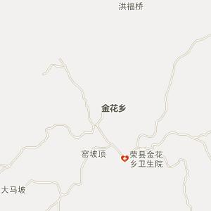 荣县金花电子地图_中国电子地图网