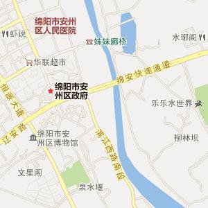 绵阳安县电子地图_安县在线旅游交通图