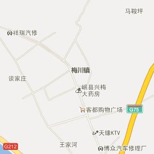 岷县梅川电子地图_中国电子地图网