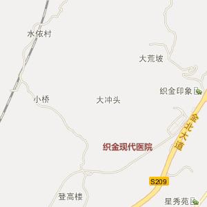 毕节地区织金县电子地图