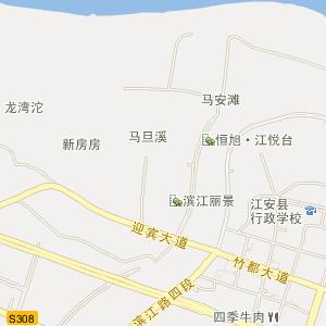宜宾市江安县电子地图