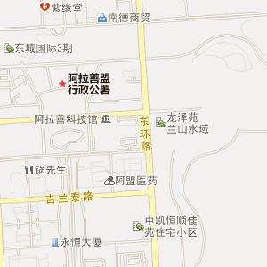 内蒙古阿拉善电子地图
