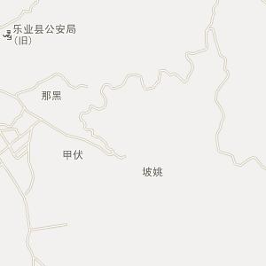 广西百色乐业县地图 市区地图
