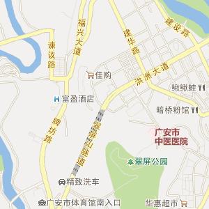 四川省电子地图 广安市电子地图