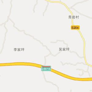 南充市电子地图 营山县电子地图