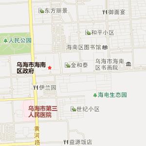 乌海市海南区交通地图