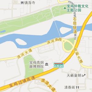 陕西宝鸡电子地图_宝鸡在线旅游交通图