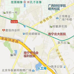 """广西电子地图 南宁电子地图 > 西乡塘电子地图   html xmlns:v=""""urn"""