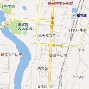 广西电子地图 来宾地图 兴宾地
