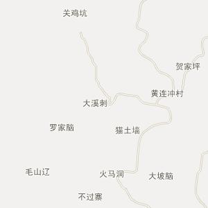 麻阳县栗坪乡电子地图