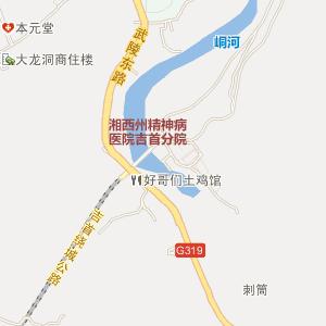 张家界 龙山地图