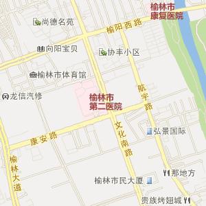 陕西榆林电子地图_榆林在线旅游交通图