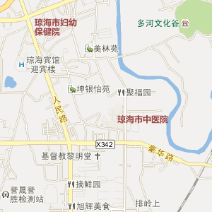 海南省琼海市电子地图