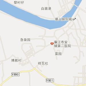 廉江市安铺镇电子地图;