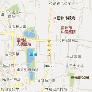 湛江市雷州市电子地图