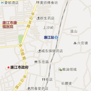廉江罗州高清电子地图