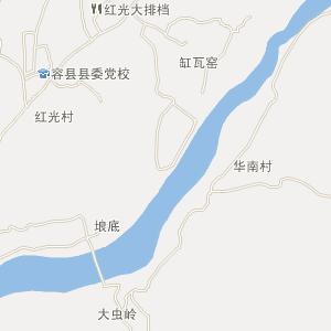 容州镇地图_容县容州镇三维电子地图和邮编