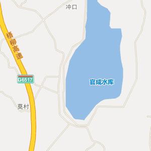 贵港平南官成地图