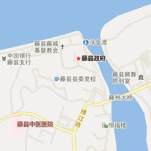 梧州藤县电子地图_藤县铁路地图