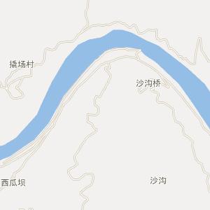 竹山县城关镇电子地图