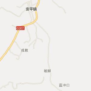 岑溪安平电子地图_中国电子地图网