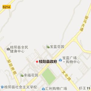 郴州市桂阳县电子地图