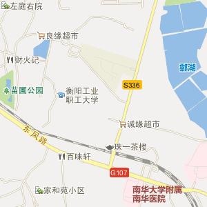 衡阳市电子地图 珠晖区电子地图