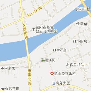 益阳资阳区地图 附近旅馆