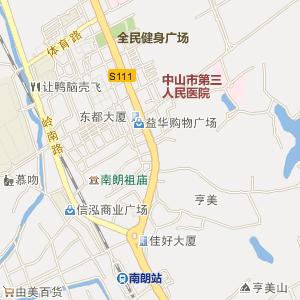 中山市南朗镇电子地图
