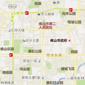 广东省佛山市电子地图