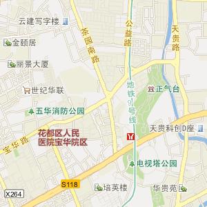 广州花都电子地图_中国电子地图网