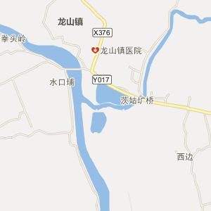 佛冈县龙山镇电子地图查询_龙