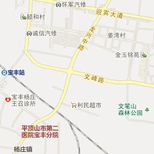 平顶山市宝丰县电子地图