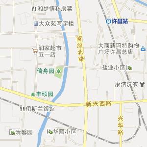 许昌市区五一路地图