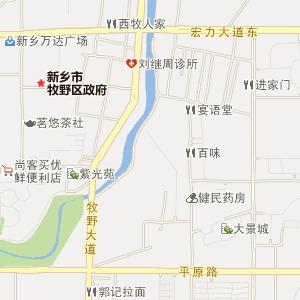 新乡市平原路地图