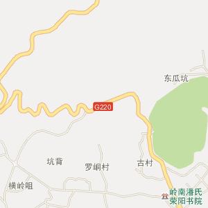 韶关市新丰县电子地图