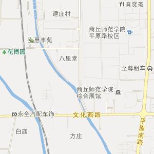 商丘市梁园区电子地图图片