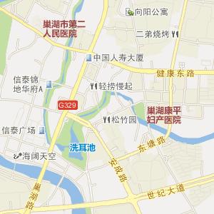 安徽巢湖电子地图_中国电子地图网